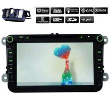 2G RAM Quad Core Android 4.4 Car DVD GPS Navigation player FOR VW GOLF POLO JETTA TOURAN EOS PASSAT TIGUAN TOURAN SCIROCCO Caddy