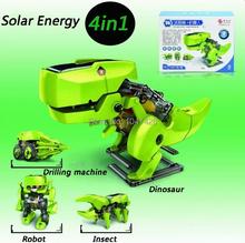 Free Shipping Solar Energy toys Learning Toy Machine 4 In1 Solar Kit Educational Toy for children Kids DIY Solar Kits Solar Toys(China (Mainland))