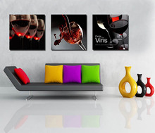 3 Pieces Free Shipping Hot Sell Modern Wall Painting Red Wine Wall Art Picture Paint on Canvas Home Interior Unframed FD333(China (Mainland))