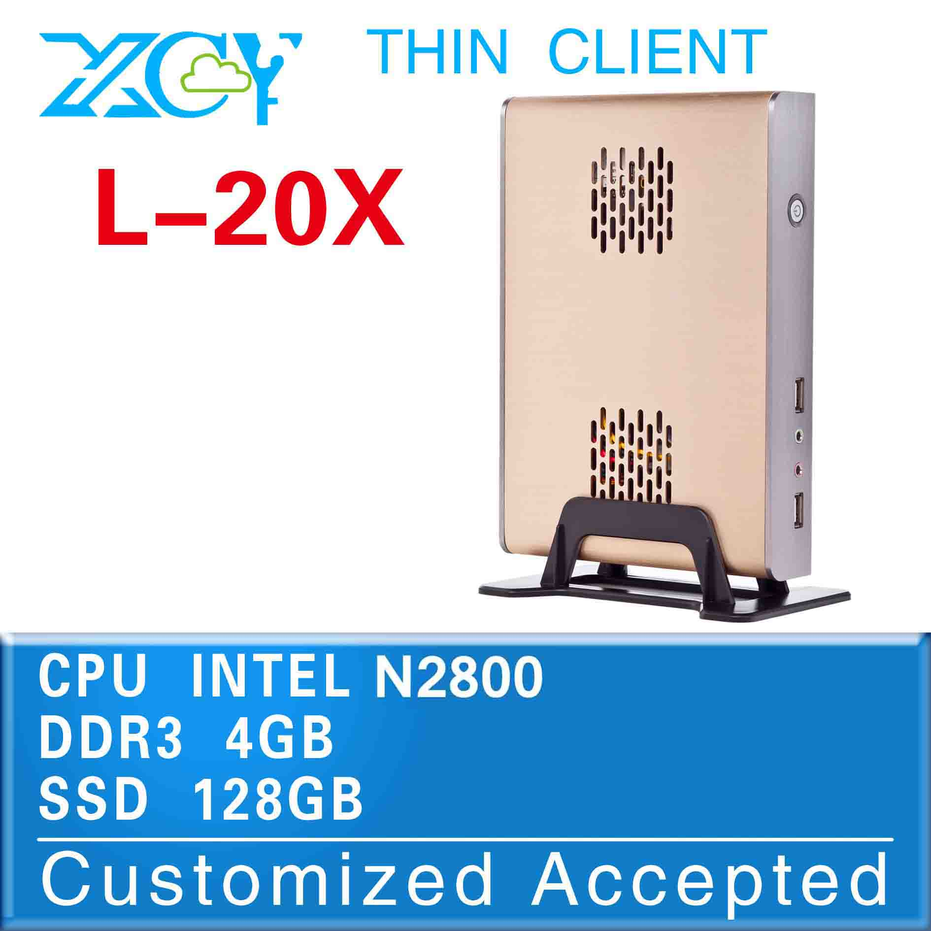 fanless linux server small size pc games L-20X 4g ram 128G SSD support Windows 7, WIFI, Webcam, HDMI(China (Mainland))