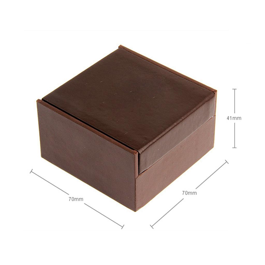 Mens Cufflinks Storeage Case Wedding Gift Box Display For 2 Pair Cufflinks