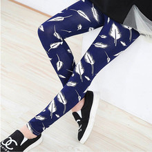 New Spring Summer Girls Leggings Casual Fashion Vintage Flower Kids Legging Elastic Waist Children's Pants bobo choses 8-14 Year(China (Mainland))