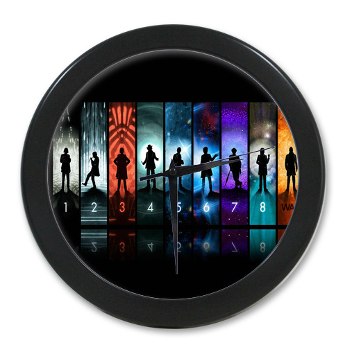 Original <font><b>Home</b></font> <font><b>Decoration</b></font> Customized Doctor Who <font><b>Elegant</b></font> Wall Clock Modern Design Watch Wall Free Shipping #-LQ013