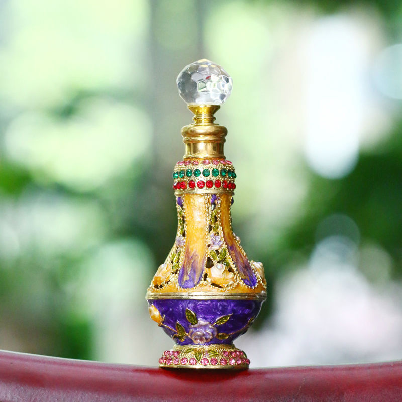 metal perfume bottle