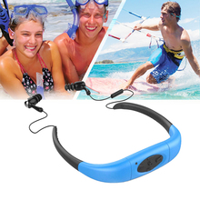 Waterproof Sport MP3 Player 4GB Underwater Head Wearing Stereo MP3 with FM Radio for Swimming Surfing Diving NI5L