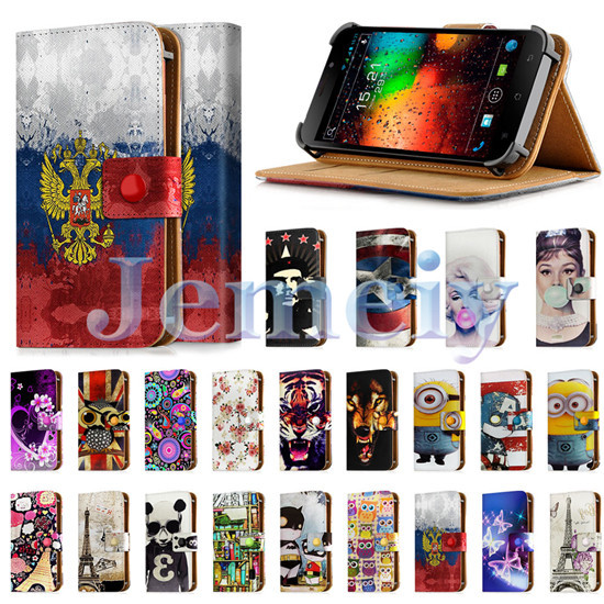 "Universal Cases For Fly IQ452 Quad EGO Vision 1 5inch 5"", Girl Print PU Leather Skin Wallet Cover Flip Stand Case For fly iq 452(China (Mainland))"