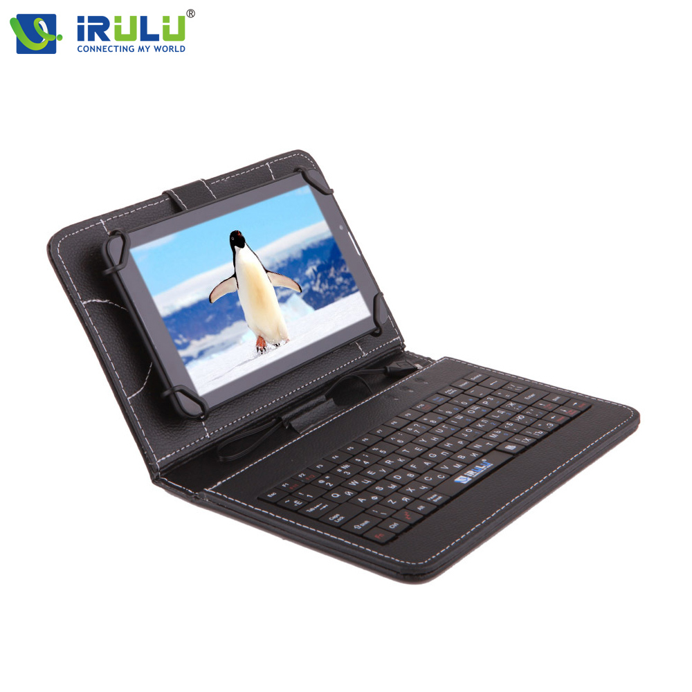 "IRULU 2016 New Arrival RUSSIAN KEYBOARD Case for 7""Tablet PC Pad Leather Cover With Micro USB Keyboard For Using Russian People(China (Mainland))"