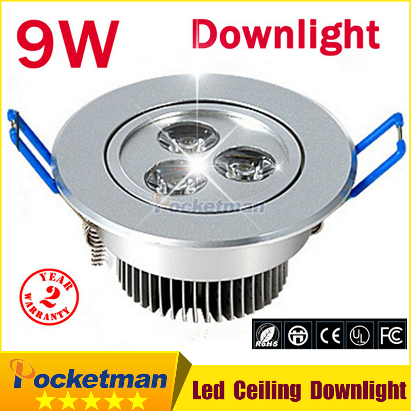 new Recessed The Best chips Epistar led downlight 9W ceiling LED Spot light led ceiling lamp AC 110V 220V free shipping zk70(China (Mainland))