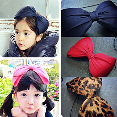 Hot Selling Girls Flower Bowknot Hairband Soft Elastic Head Band Big Bow Headbands Hair Accessories Headwears New - Trade Star in Shanghai store