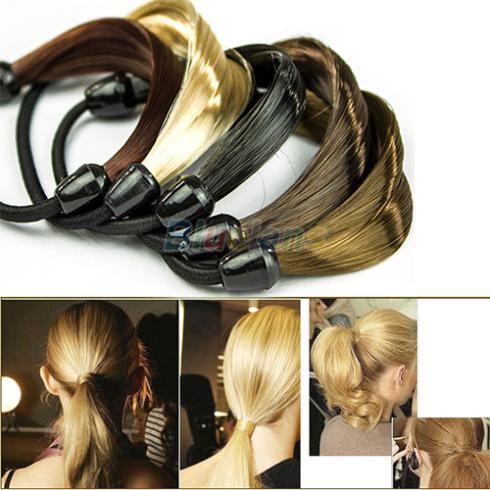 Korean Wig Hair Ponytail Holders Plaits Hair Circle Manual Twist Rubber Band Headband Headwear 01VZ 2NUX(China (Mainland))