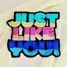 Buy Paillette accessories patch Applique embroidered clothes accessories decoration fabric applique 2pcs/Lot for $13.99 in AliExpress store