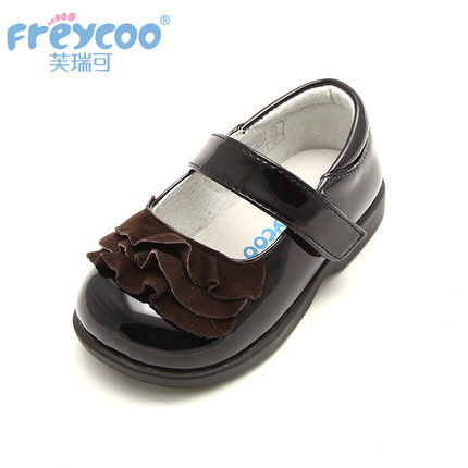 Freycoo for spring and autumn child shoes wave decoration baby shoes 1-4 years old princess shoes pretty kids shoes 8058(China (Mainland))