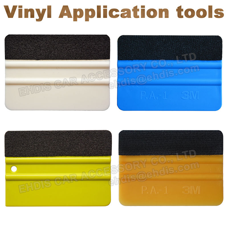 4inch felt squeegee gold blue white and green color vinyl applicators graphics window tint tool kit(China (Mainland))