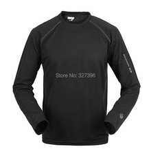 Printemps manches longues en plein air randonnée séchage rapide T Shirt hommes Coolmax respirant Sport de course sweat Camp de pêche remise en forme T - Shirt(China (Mainland))