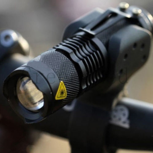 2000lm bike light CREE Q5 zoom flashlight mini torch LED Cycling Bike Bicycle Front Head Light Mount - One TRLIFE Store store