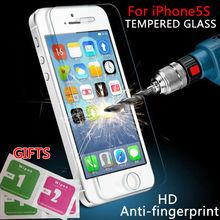 ON SALE! 2.5D 0.26mm 9H Premium Tempered Glass For iPhone 5S 5C 4s SE Screen Anti Shatter Protector Film For iphone 6 6s plus