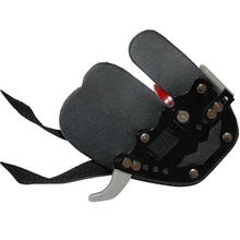 Hunting Finger Guard Arrow Archery Shooting Finger Guard Sports Supplies Black Cow Leather Armor Finger Protector