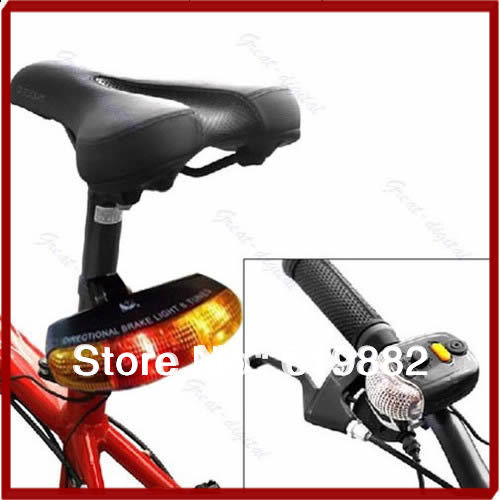Y92 Free Shipping New 3 In 1 Cycling Bicycle Bike Turn Signal Brake Tail 7 LED Light Electric Horn Sale(China (Mainland))
