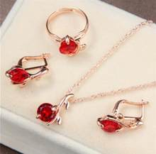 ZOSHI schmuck sets afrikanischen braut gold farbe halskette ohrringe Ring hochzeit kristall sieraden frauen mode schmuck set(China)