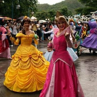 New 2016 Free Shipping Fantasia Halloween Women Cosplay Princess Belle Dress Beauty And The Beast Adult Princess Belle Costume