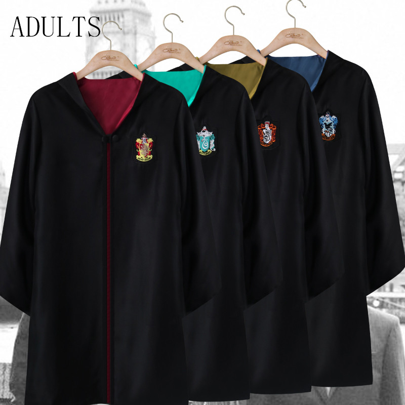 Draco Malfoy Cosplay Costume Gryffindor Magic Robe Party Clothing Adult School Uniform Harry Potter Cloak(China (Mainland))