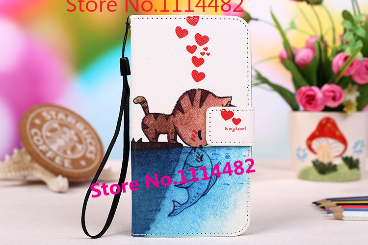 Fashion Multi-colors PU Leather Stand Wallet Flip Phone Cover For Starmobile Up HD Mobile Phone Case With Card Slots Lanyard gif(China (Mainland))