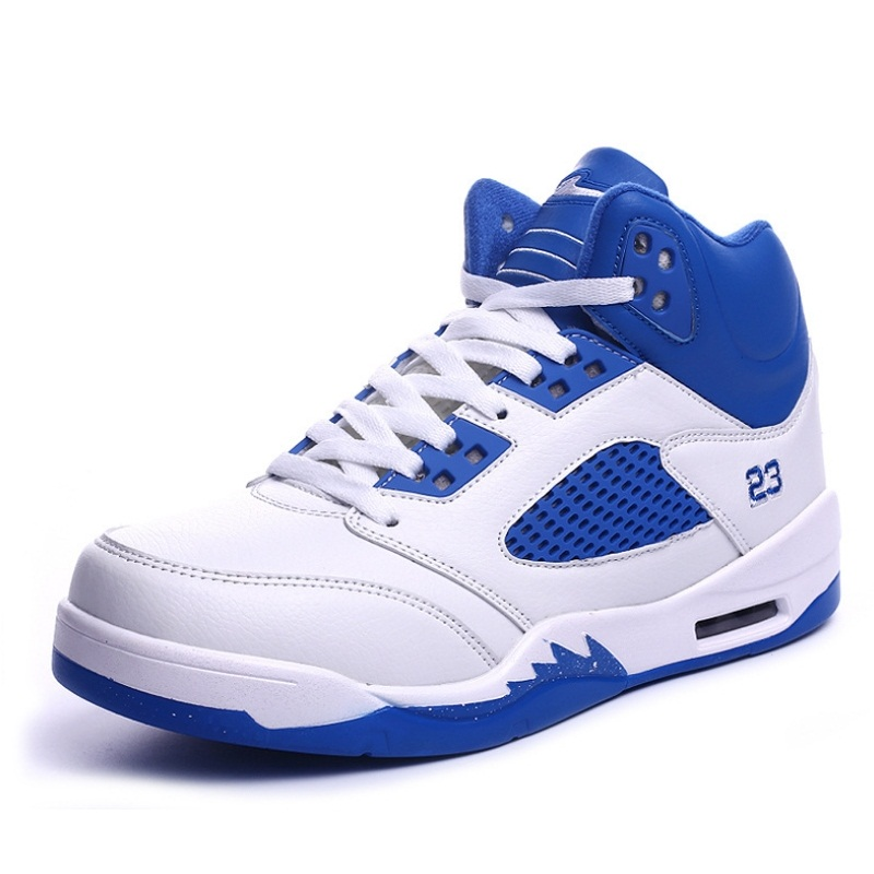 New Brand Men Basketball Shoes Mens Non Slip Sports Shoes Breathable High Top Sneakers Cushioning Rubber Size 39-45 #B2298(China (Mainland))