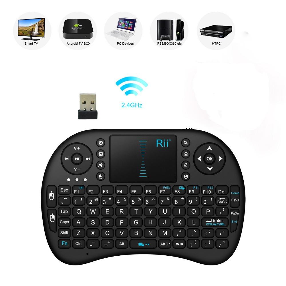 2.4G Rii Mini i8 Wireless Touchpad Gaming Keyboard for PC HTPC Smart TV(China (Mainland))
