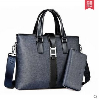 Luxurious PVC leather Briefcase for men(China (Mainland))