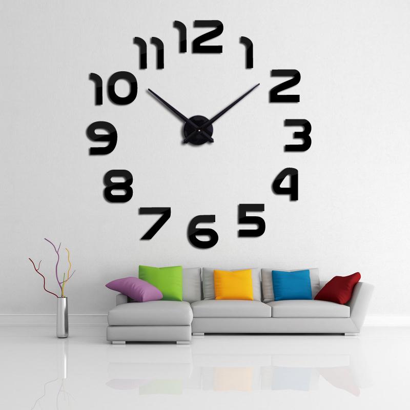 2016 new clock watch wall clocks horloge 3d diy acrylic ...