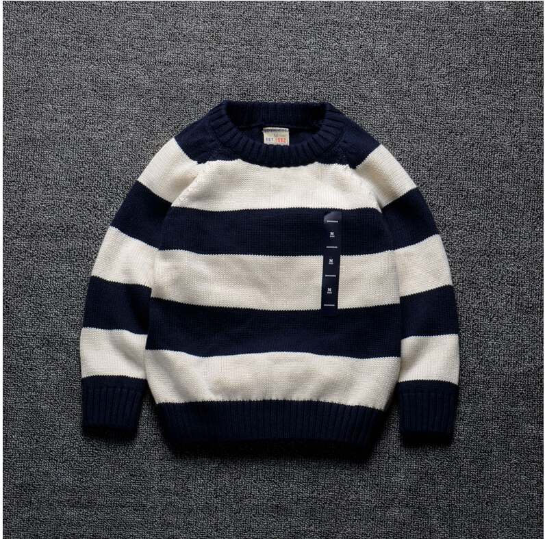 88632 Wholesale 2015 Autumn Boys Sweaters Striped Casual Boys Pullovers Fashion O-Neck Full Sleeve Children Clothes Supplier <br><br>Aliexpress