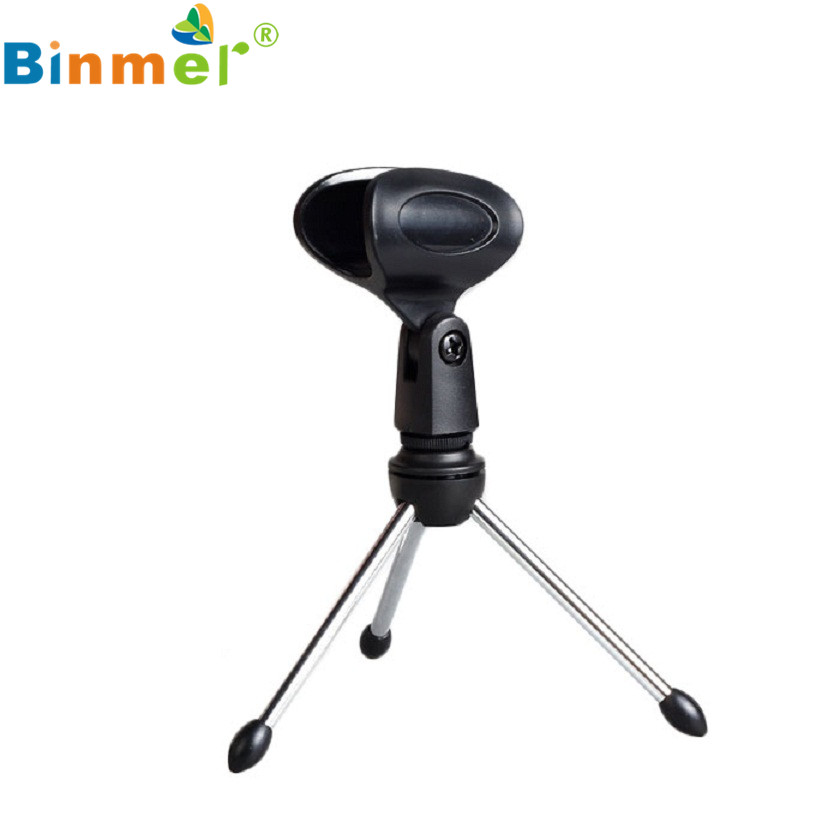 Adroit Adjustable Metal Desk Top Mic Microphone Clamp Clip Holder Stand Tripod FEB3 drop shipping