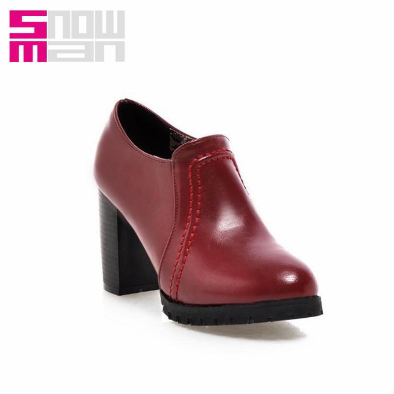 2016 Brand 4 Colors Zipper Platform Shoes Woman Steady Flannel Spring Pumps Casual Pumps Women Shoes Thick High Heel Women Pumps<br><br>Aliexpress