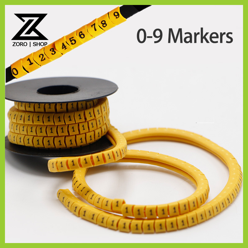 270Pcs/Roll 2.5mm Insulate PVC Round square Cable Wire Markers Letter English Words Number Symbol(China (Mainland))