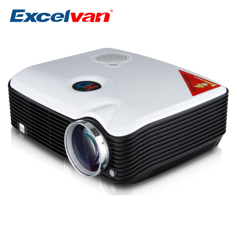 Clearance Excelvan PH5 Full HD LED Portable Multimedia Cinema Projector 2500lm 800*600 AV IN/USB/VGA/HDMI Home Theater For DVD(China (Mainland))