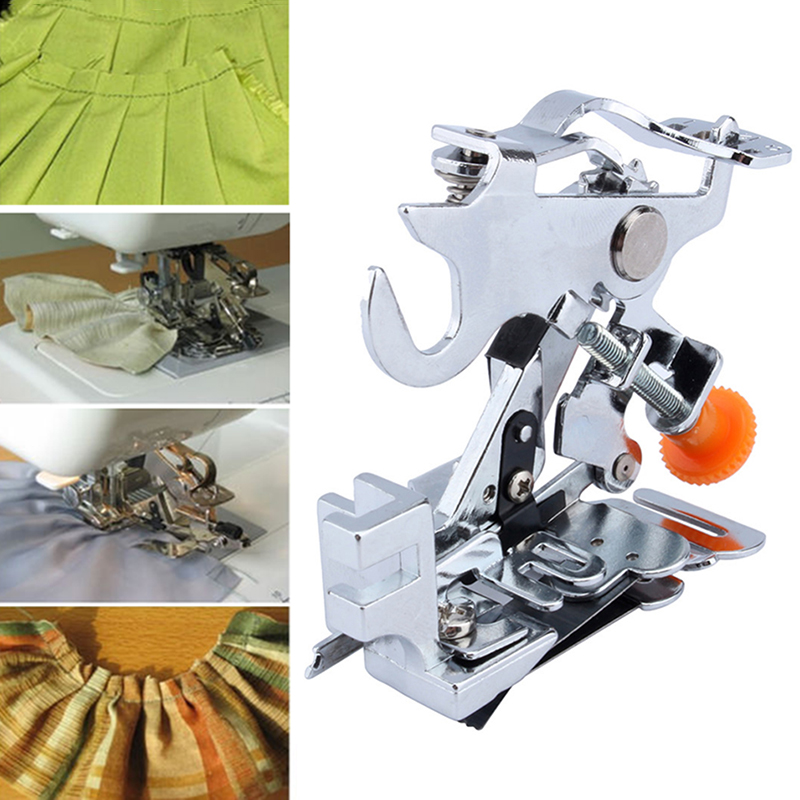Household Ruffler Presser Foot Low Shank Pleated Attachment Presser Foot Sewing Machine Accessories DJ0477