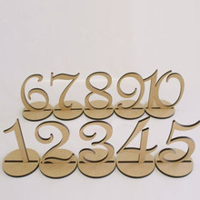 10pcs/set Fashion Wooden Wedding Party Supplies 1-10 or 11-20 Place Holder Table Number Figure Card Digital Seat Decoration(China (Mainland))