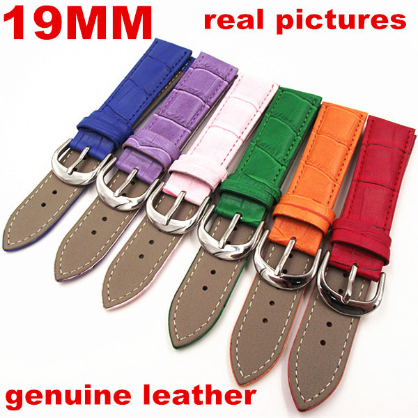 Wholesale 10PCS/lot 19MM High quality genuine leather watch band watch strap wrist watch part 6 colors available -WBGL005<br><br>Aliexpress