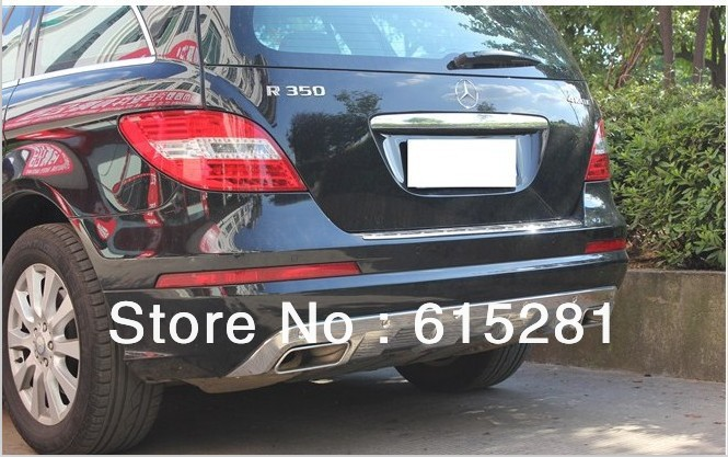 Mercedes R300/350/550 2010+,Rear Bumper Protector Body Kits Guard Plate , Stainless steel, Free Shipping(China (Mainland))