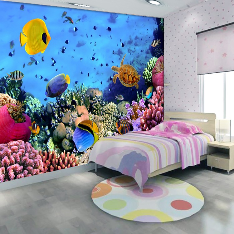 3d aquarium wallpaper wallpaper murals children bedroom tv
