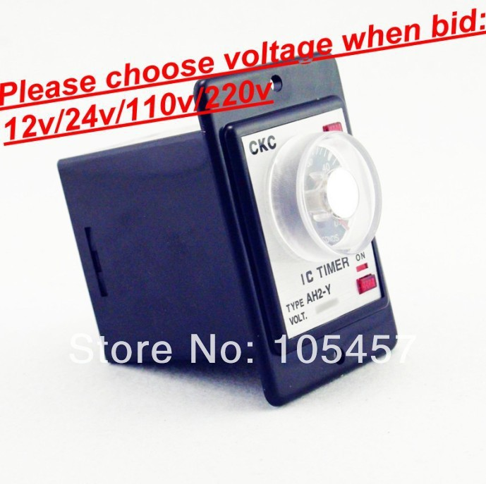 Power on delay timer time relay 0-60 minutes panel installation AH2-Y Tell us voltage when bid(China (Mainland))