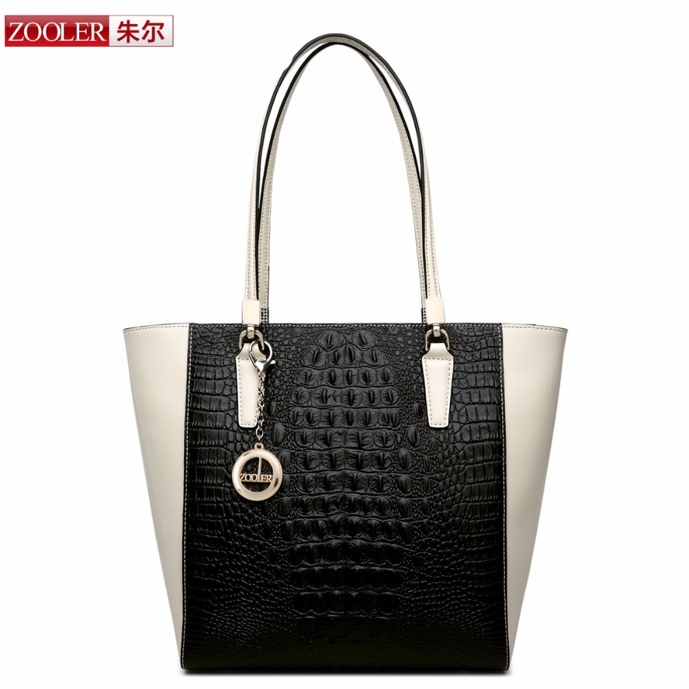 ZOOLER genuine leather bag bags handbags women famous brands Desigual Alligator Grain top quality Vintage classic