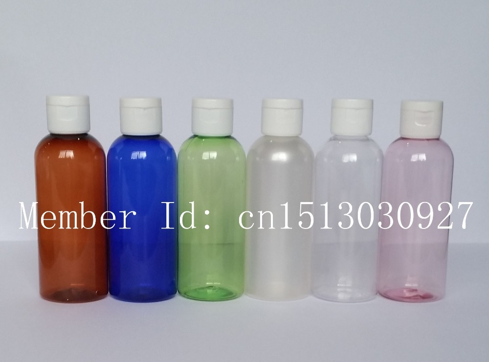 100ML empty plastic travel container bottle with flip top cap,sample bottles for cosmetic packaging(China (Mainland))