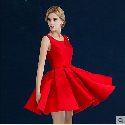 Red Short Cocktail Dresses 2016 New A-line knee-length formal evening vestido de festa party dresses - KC International Fashion Store store
