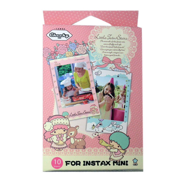 Fuji 10 pcs Instax Mini 8 Paper Photo Sticker Little Twin Stars Decoration Stickers For Fujifilm Instax Mini 8 7s 25 50s Films(Hong Kong)