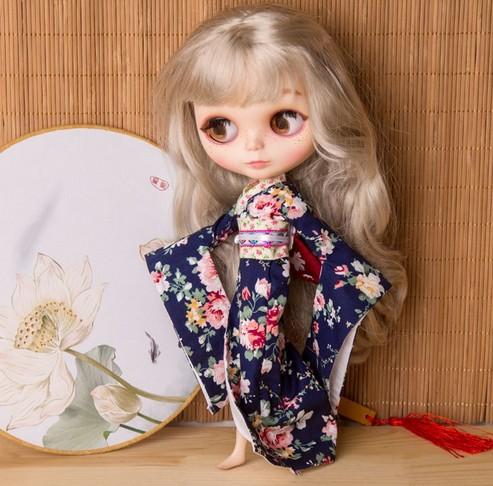 30cm Blythe Doll accessories doll colthes Blythe kimono Blythe dress(China (Mainland))