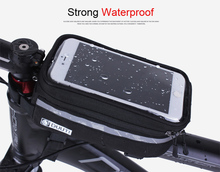 Cell Phone bag 3.5inch-5.7inch Cycling Bicycle bags panniers Frame Front Tube Bag MTB Bike TPU Touch Screen Bag For Samsung S6