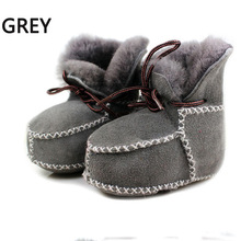 Baby Prewalker Snow Boots Shoes Girl 100% Genuine Fur Shoes Baby Boy First Walkers Infant Toddler  Sapatos Handmade Sewing Soft(China (Mainland))