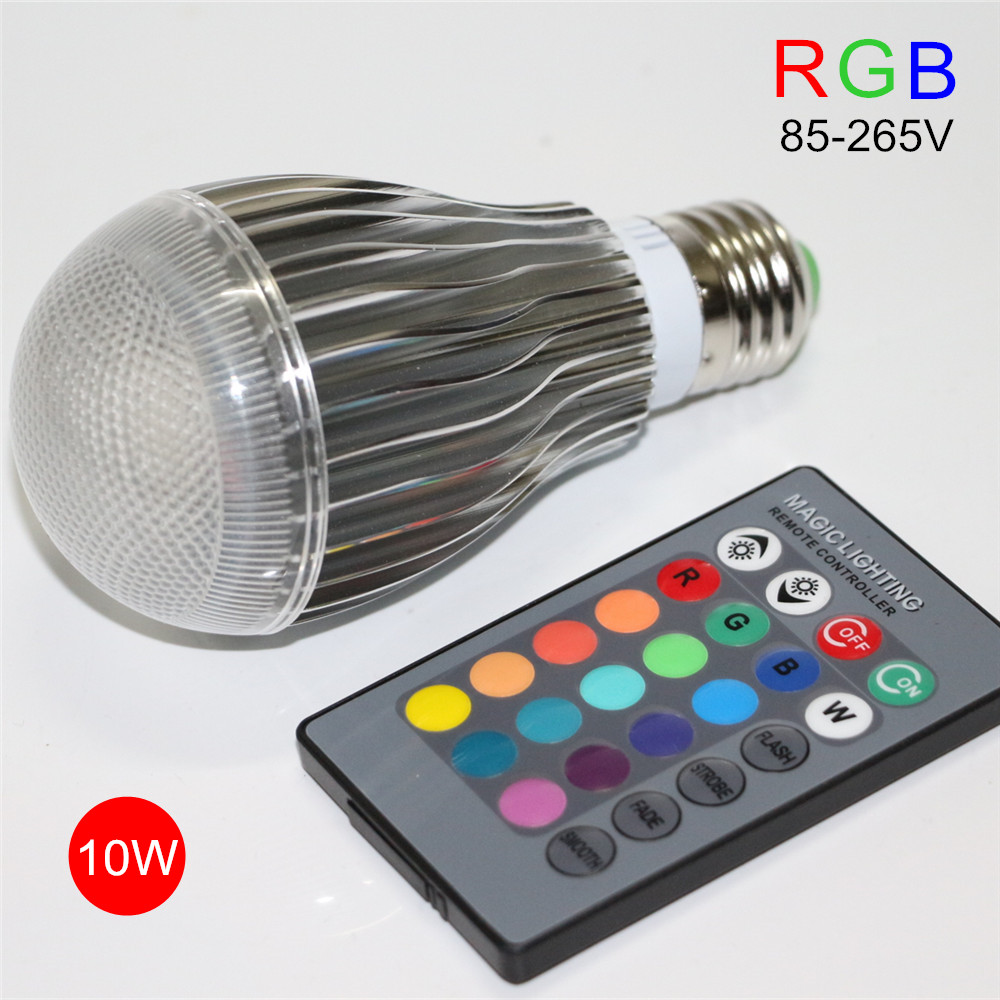 e27 10w rgb led lamp 110v 220v dimmable led bulb spot light bombilla lampada lampadine ampoule. Black Bedroom Furniture Sets. Home Design Ideas