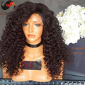 6A Remy Indian Human Hair Wigs Loose Curl Glueless Full Lace Wigs 8 28 Inches Curly